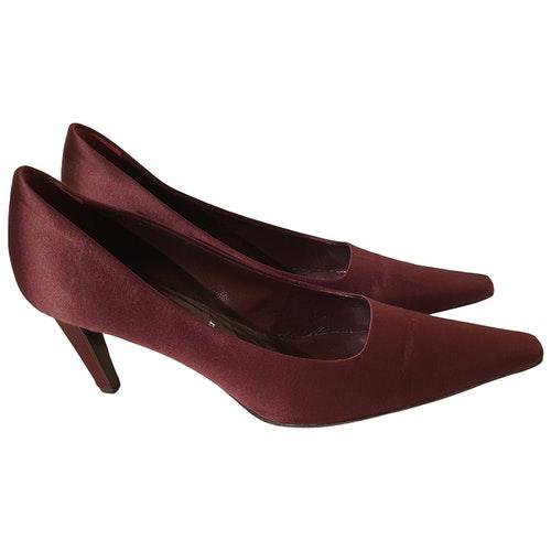 Pre-owned Jil Sander Burgundy Cloth Heels