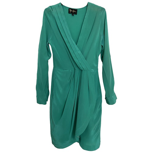 Pre-owned Yumi Kim Green Silk Dress