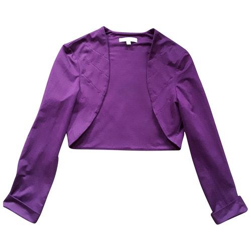 Pre-owned Paule Ka Purple Cotton  Top