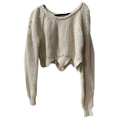 Pre-owned Off-white Beige Cotton Knitwear