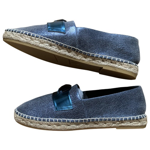 Pre-owned Robert Clergerie Blue Leather Espadrilles