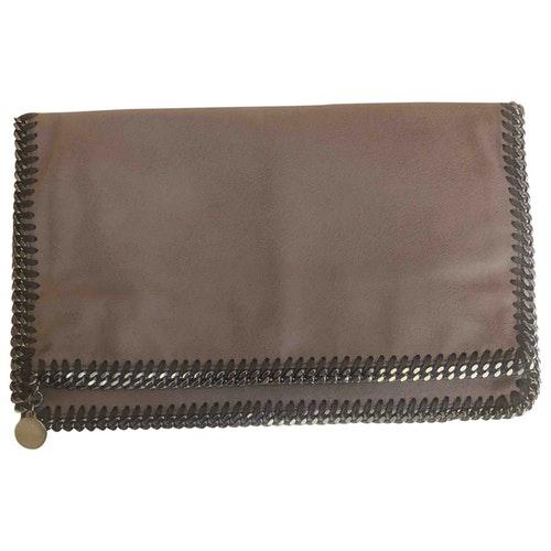 Pre-owned Stella Mccartney Falabella Beige Cloth Clutch Bag