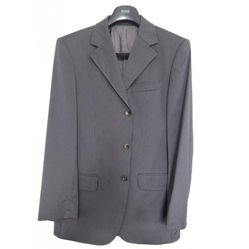 Pre-owned Hugo Boss Grey Wool Suits