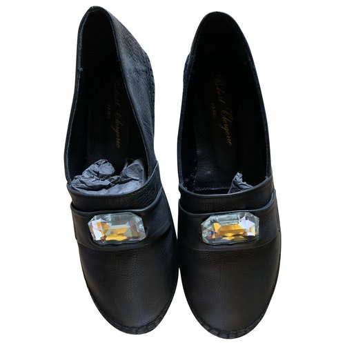 Pre-owned Robert Clergerie Black Leather Espadrilles
