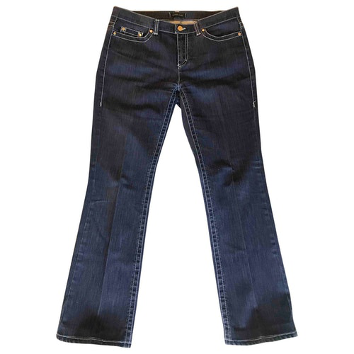 Pre-owned Roberto Cavalli Blue Cotton - Elasthane Jeans
