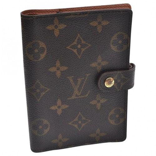 Pre-owned Louis Vuitton Brown Cloth Handbag