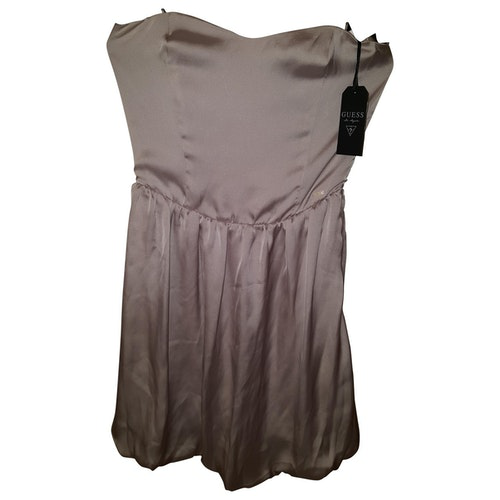 Pre-owned Guess Green Cotton - Elasthane Dress