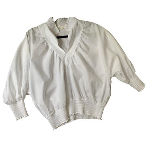 Pre-owned Maje White Cotton  Top