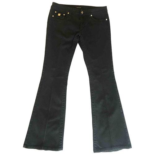 Pre-owned Roberto Cavalli Black Cotton - Elasthane Jeans