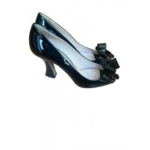 Pre-owned Miu Miu Black Patent Leather Heels