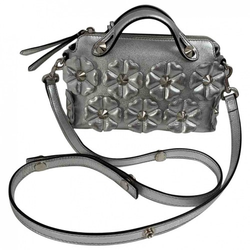 Pre-owned Fendi By The Way  Silver Leather Handbag