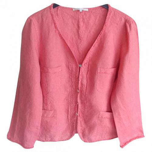 Pre-owned Gerard Darel Red Linen Jacket