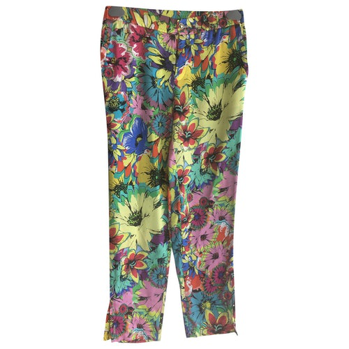 Pre-owned Roberto Cavalli Multicolour Silk Trousers
