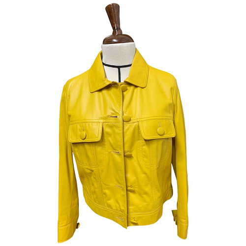 Pre-owned See By Chloé Yellow Leather Jacket
