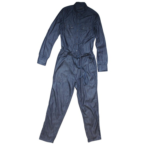 Pre-owned Citizens Of Humanity Navy Cotton Jumpsuit