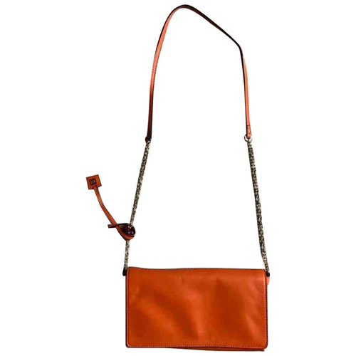 Pre-owned Coccinelle Orange Leather Handbag