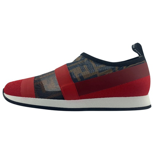Pre-owned Fendi Red Trainers