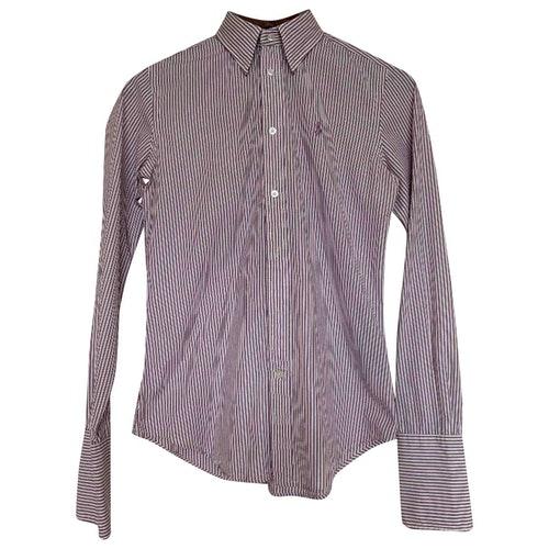 Pre-owned Ralph Lauren Burgundy Cotton  Top
