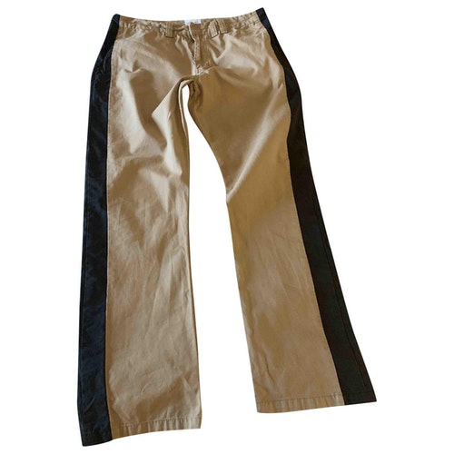 Pre-owned Laurence Dolige Camel Cotton Trousers