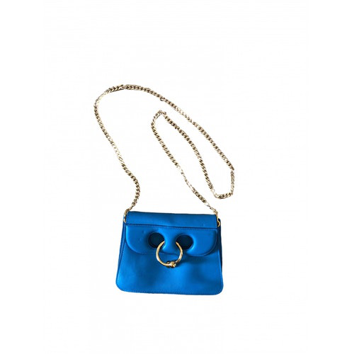 Pre-owned Jw Anderson Turquoise Leather Clutch Bag