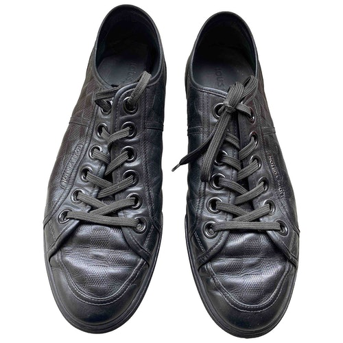 Pre-owned Louis Vuitton Black Leather Trainers