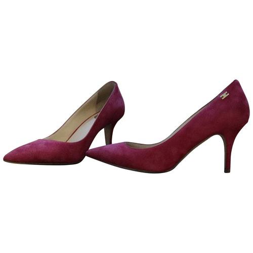 Pre-owned Elisabetta Franchi Pink Suede Heels