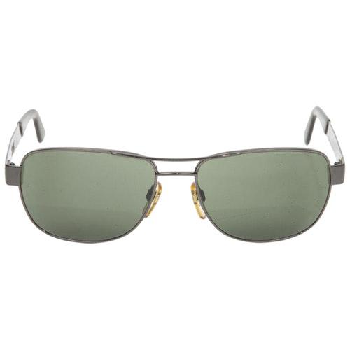 Pre-owned Giorgio Armani Silver Metal Sunglasses