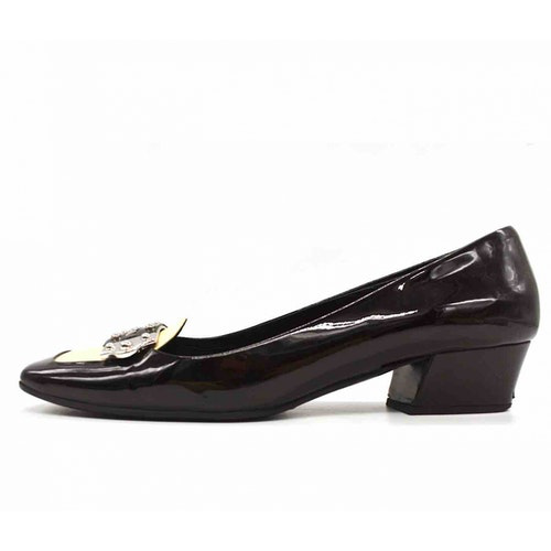 Pre-owned Prada Black Leather Heels
