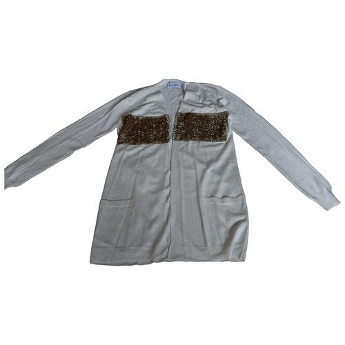 Pre-owned Dondup Ecru Wool Knitwear