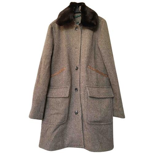 Pre-owned Lauren Ralph Lauren Brown Wool Coat