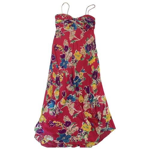 Pre-owned Polo Ralph Lauren Pink Silk Dress