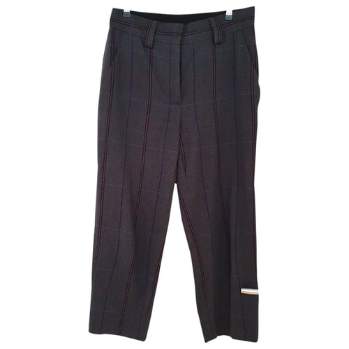 Pre-owned Acne Studios Anthracite Wool Trousers