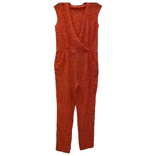 Pre-owned Comptoir Des Cotonniers Multicolour Silk Jumpsuit