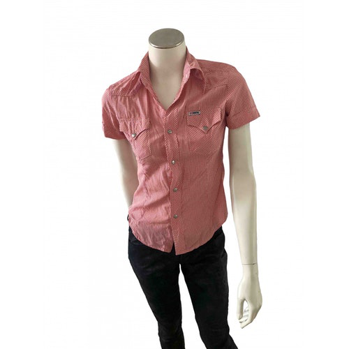 Pre-owned Diesel Red Cotton  Top