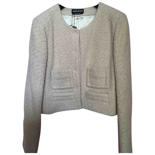 Pre-owned Sonia Rykiel Beige Wool Jacket