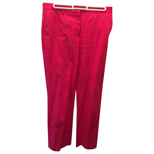 Pre-owned Paul Smith Pink Cotton Trousers