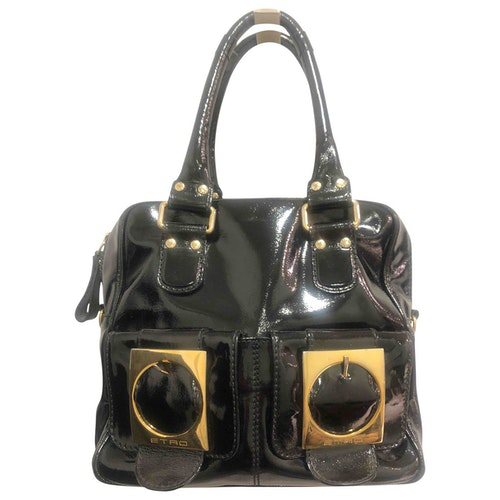 Pre-owned Etro Black Patent Leather Handbag