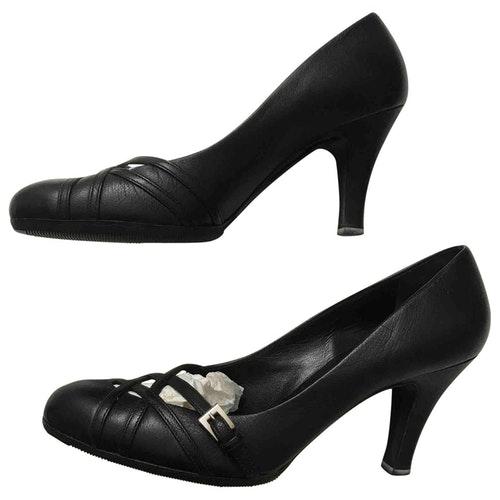 Pre-owned Prada Brown Leather Heels
