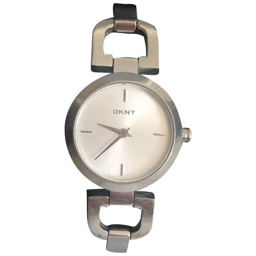 Pre-owned Dkny Silver Steel Watch
