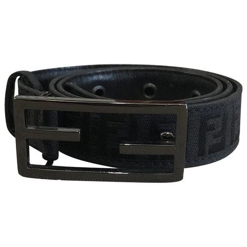 Pre-owned Fendi Black Cloth Belt