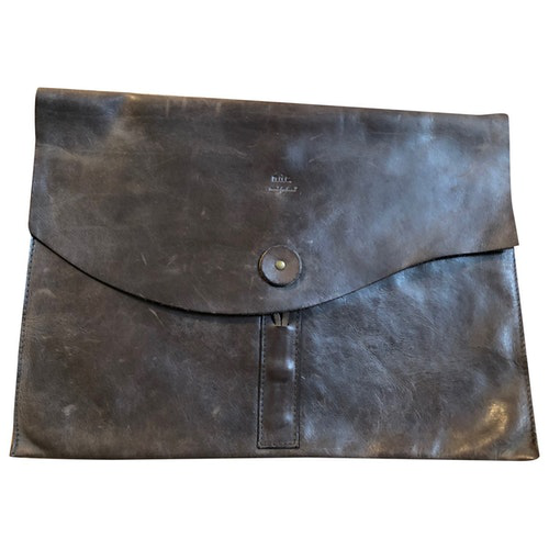 Pre-owned N.d.c. Brown Leather Clutch Bag