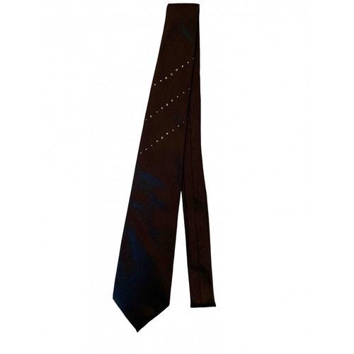 Pre-owned Valentino Garavani Black Silk Ties