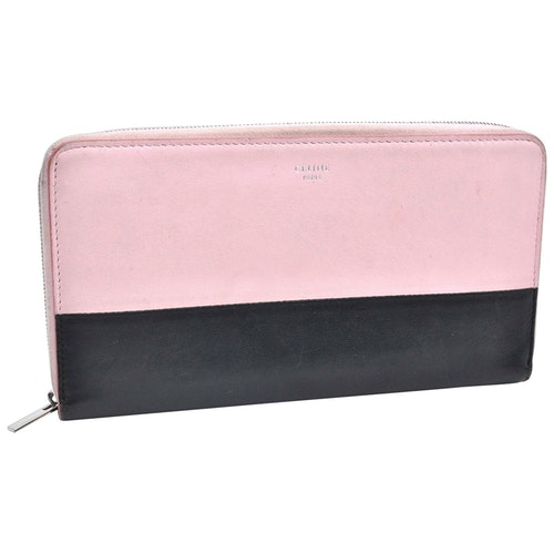 Pre-owned Celine Pink Leather Wallet