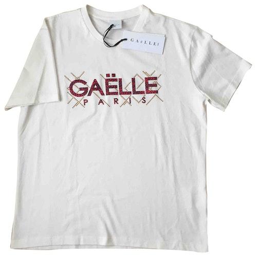 Pre-owned Gaelle Paris White Cotton  Top