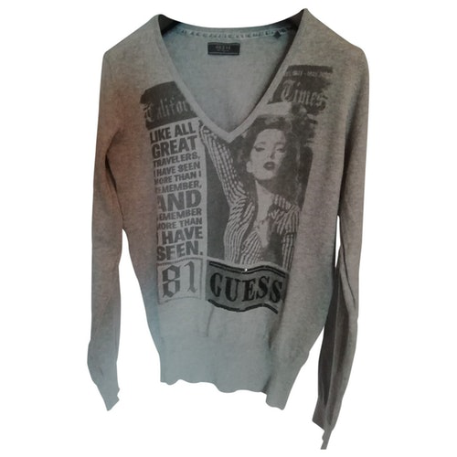 Pre-owned Guess Grey Cotton Knitwear