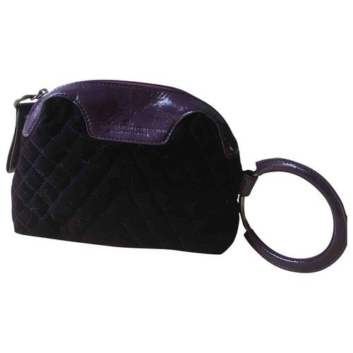 Pre-owned Designers Remix Purple Velvet Clutch Bag
