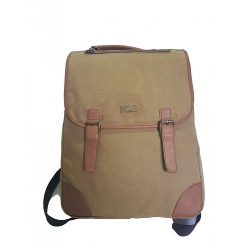 Pre-owned Fila Camel Cloth Backpack