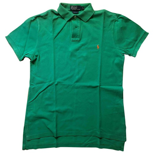 Pre-owned Polo Ralph Lauren Polo Ajustã© Manches Courtes Green Cotton Polo Shirts