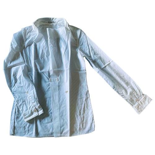 Pre-owned Le Sarte Pettegole White Cotton  Top