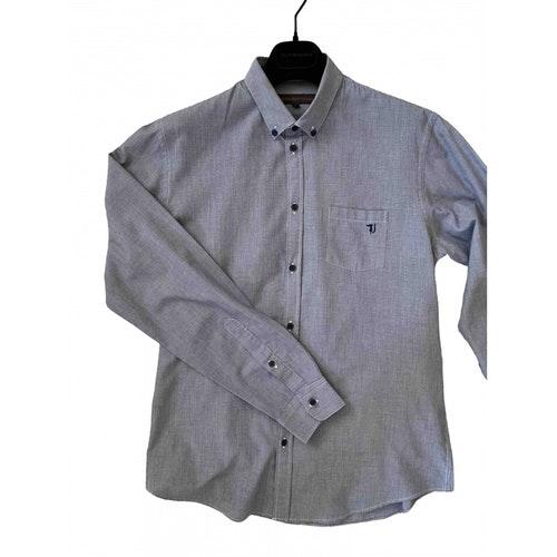 Pre-owned Trussardi Jeans Blue Cotton Shirts